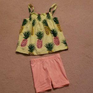 🍍Carter's Toddler Girl 3T Tank & Short Set